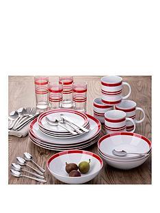 waterside-bistro-red-stripe-36-piece-combination-dinner-set