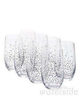 Waterside Silver Star Hi-Ball Glasses &Ndash; Set Of 8