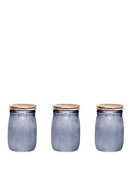 kitchencraft-industrial-kitchen-medium-glass-storage-jars-set-of-3
