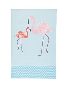 kitchencraft-flamingo-100-cotton-tea-towels-pack-of-2