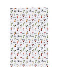 kitchen-craft-kitchencraft-039cocktail-menu039-100-cotton-tea-towels-70cm-x-47cm-set-of-2