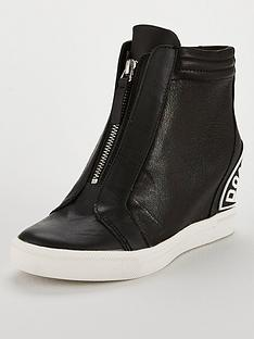 dkny-connie-slip-on-wedge-trainer-black