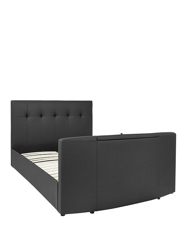 Fabriksnye Rialto Faux Leather TV Bed with Bluetooth, USB Charging and XR-53