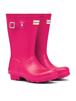 hunter-original-kids-wellington-boots-bright-pink