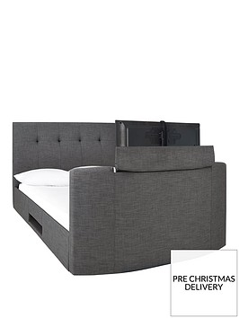 pavelonnbspfabric-side-lift-ottoman-storage-tv-bed-with-bluetooth-usb-chargers-mattress-options-buy-and-savep