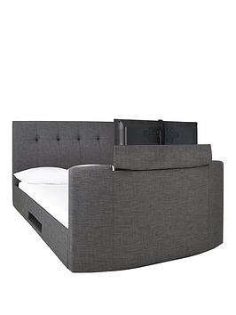 Very Avelon Fabric Side Lift Ottoman Storage Tv Bed With Bluetooth, Usb  ... Picture