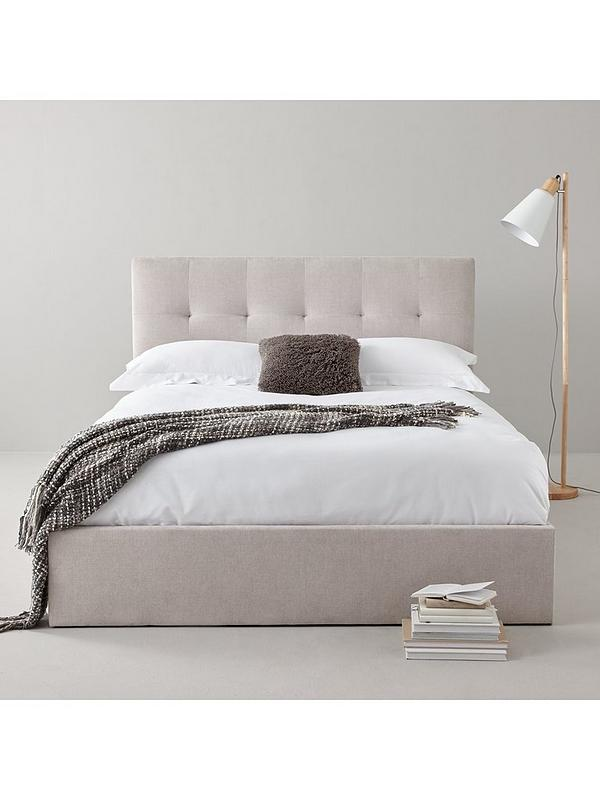 Rebecca Fabric Ottoman Storage Bed With, Rebecca Upholstered Queen Platform Bed