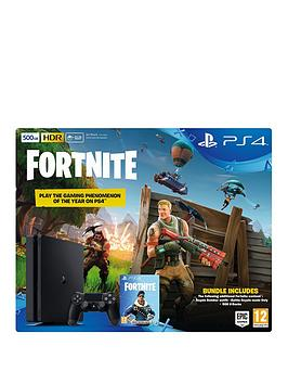 playstation-4-500gbnbspblack-console-with-fortnite-royal-bomber-skin-and-500-v-bucks-plus-optional-extras