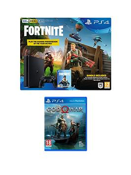 Playstation 4 Ps4 500gb Black Console With Fortnite Royal Bomber