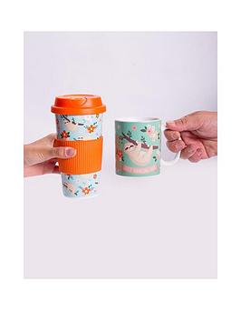 fizz-sloth-duo-1-x-heat-changing-mug-and-1-x-travel-cup