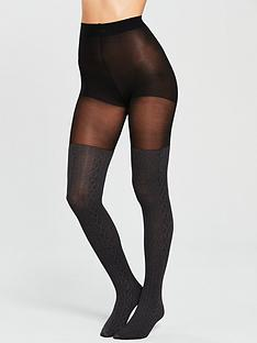 pretty-polly-over-the-knee-cable-sock-tight-grey-marl