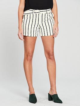 mango-striped-belt-chino-shorts-creamblack