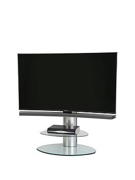 off-the-wall-motion-cantilever-tv-stand-silverclear-glass-fits-up-to-65-inch-tv