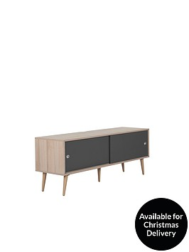 off-the-wall-retro-140-cm-tv-cabinet-oakgrey-fits-up-to-65-inch-tv