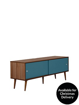 off-the-wall-retro-140-cm-tv-cabinet-walnutblue-fits-up-to-65-inch-tv