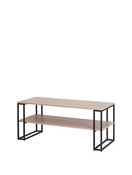 off-the-wall-cube-110-cm-open-tv-standcoffee-table-metaloak-effect-fits-up-to-50-inch-tv