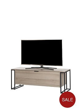 off-the-wall-cube-130-cm-tv-cabinet-oak-effect-fits-up-to-65-inch-tv