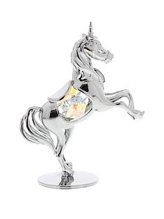 crystocraft-crystocraft-chrome-plated-unicorn-ornament-with-crystal