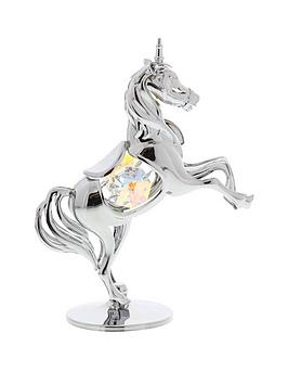 Crystocraft Crystocraft Crystocraft Chrome Plated Unicorn Ornament With  ... Picture