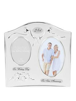Very Photo Frame 2Tone S/Plated Double Anniversary - 25Th/40Th/50Th Picture