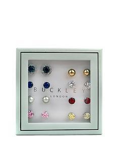 buckley-london-set-of-8-stud-earrings-with-free-gift-bag