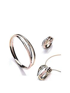 buckley-london-tri-colour-russian-twist-bangle-ring-amp-necklace-set-with-free-gift-bag
