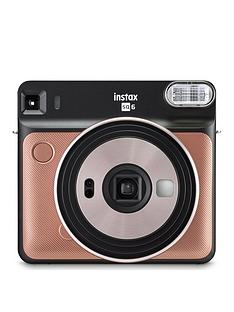 fujifilm-instax-instax-square-sq6-instant-camera-with-optional-10-or-30-pack-of-paper--nbspblush-gold