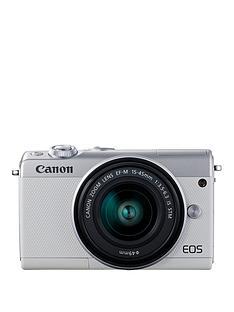 canon-eos-m100-csc-camera-kit-inc-15-45mm-lens-amp-irista-50gb-storage-white