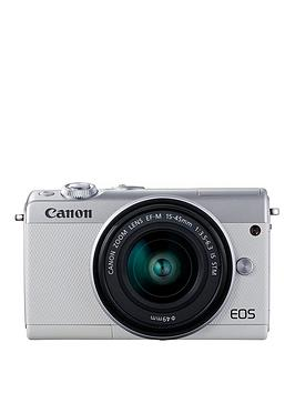 Canon   Eos M100 Csc Camera Kit Inc 15-45Mm Lens - White