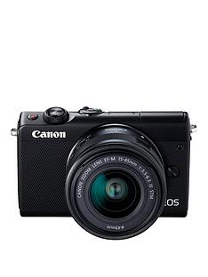 canon-eos-m100-csc-camera-kit-inc-15-45mm-lens-amp-irista-50gb-storage-black