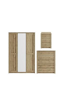 consort-bronte-3-piece-package-ndash-3-door-mirrored-wardrobe-5-drawer-chest-and-3-drawer-bedside-chest