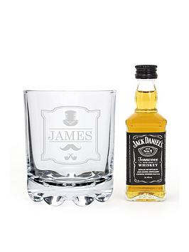Very Personalised Gentlemans Glass With A Miniature Whisky &Amp; Coke In A  ... Picture