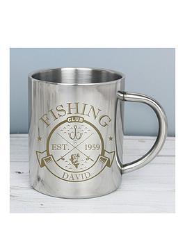 Very Personalised Fishing Club Enamel Mug Picture