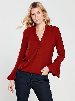 v-by-very-wrap-front-top-dark-rednbsp