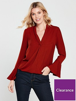 v-by-very-wrap-front-top-dark-rednbsp