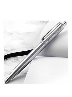 personalised-sheaffer-brushed-crome-pen