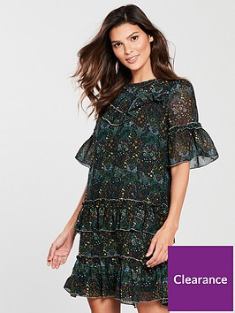river-island-river-island-printed-frill-swing-dress-green