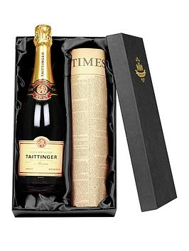 Very Tattinger Champagne And Newspaper In A Silk Lined Gift Box Picture