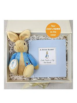 Very Personalised Peter Rabbit Guide To Life Plush Toy Gift Set Picture