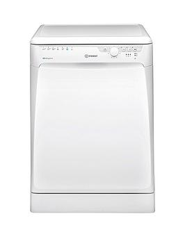 Indesit   Dfp27T94Zuk Full Size 14-Place Dishwasher With Quick Wash And Baby Care - White