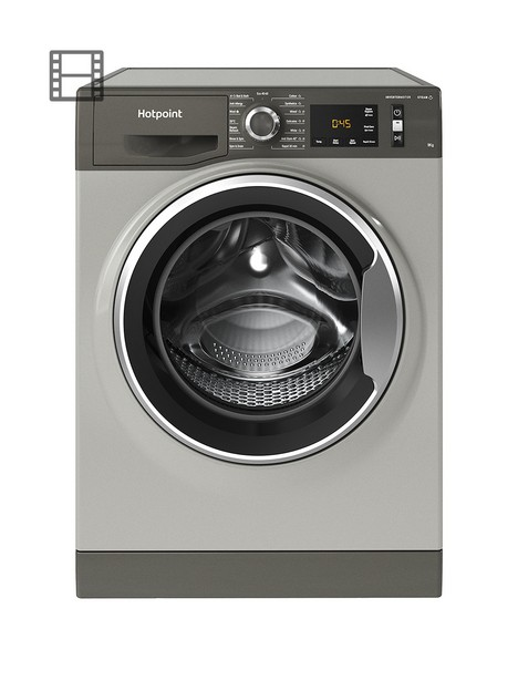hotpoint-active-care-nm11945gcaukn-9kg-load-1400-spin-washing-machine-graphite