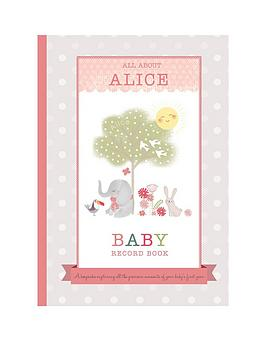 Very Personalised Baby Record Book Picture