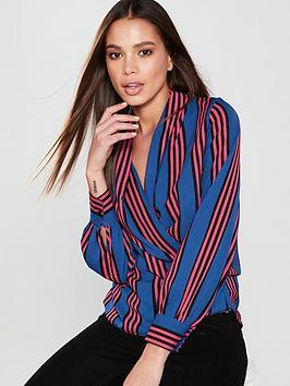 v-by-very-stripe-wrap-top-multi