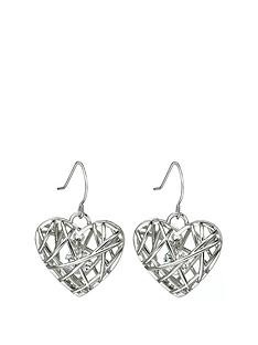 fiorelli-silver-plated-cubic-zirconia-caged-heart-drop-earrings