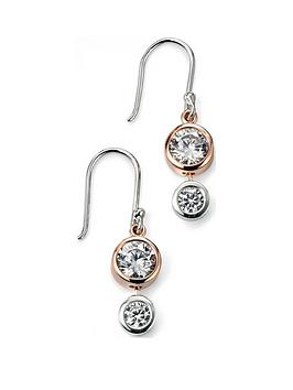 the-love-silver-collection-rose-gold-plated-sterling-silver-cubic-zirconia-drop-pendant-necklace-earrings-set