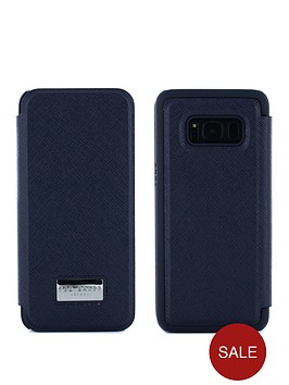 separation shoes 4e129 fc69e Ted Baker Ted Baker Card Slot Folio Case Samsung Galaxy S8 – Navy ...