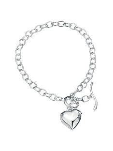 the-love-silver-collection-sterling-silver-puffed-heart-charm-bracelet