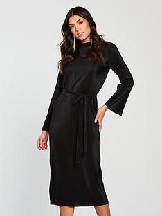 v-by-very-pleated-jersey-midi-dress-black