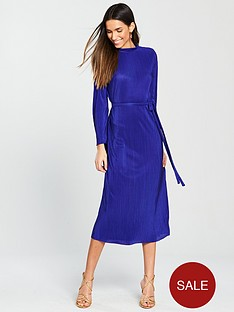 v-by-very-pleated-jersey-midi-dress-electric-blue
