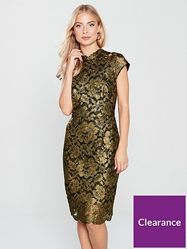 phase-eight-janie-foil-print-lace-dress-blackgoldnbsp
